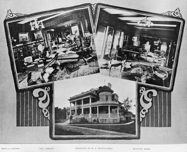 Residence of W.S. Montgomery including Library and Drawing Room, 1901