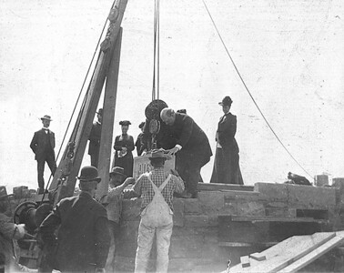 Laying of the cornerstone at McGregor by President Slocum, April 4th, 1903