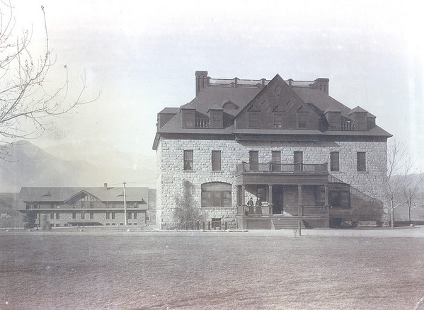 Montgomery Hall with McGregor Hall in the Background 1904