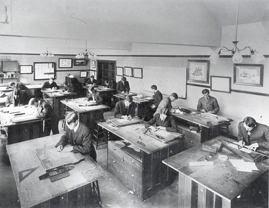 Palmer Hall Drafting Room 1906