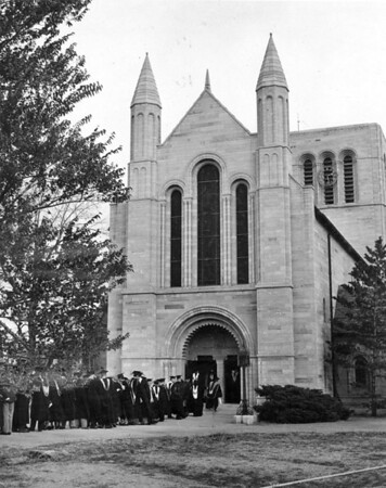 Shove at Commencement, circa 1950s