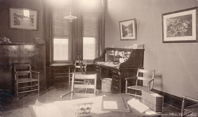 President Slocum�s office, 2nd floor of Cutler hall, NE corner