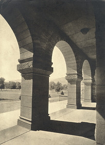Palmer Hall Arches Looking out on the Quadrangle Early 1900's